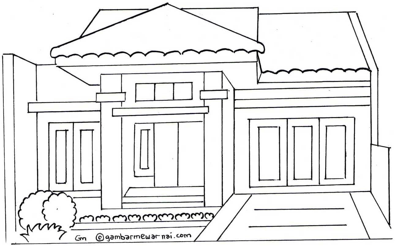 Teratas 21 Gambar Rumah Yang Belum Diwarnai 12 Dalam Desain Interior Untuk Renovasi Rumah dengan 21 Gambar Rumah Yang Belum Diwarnai