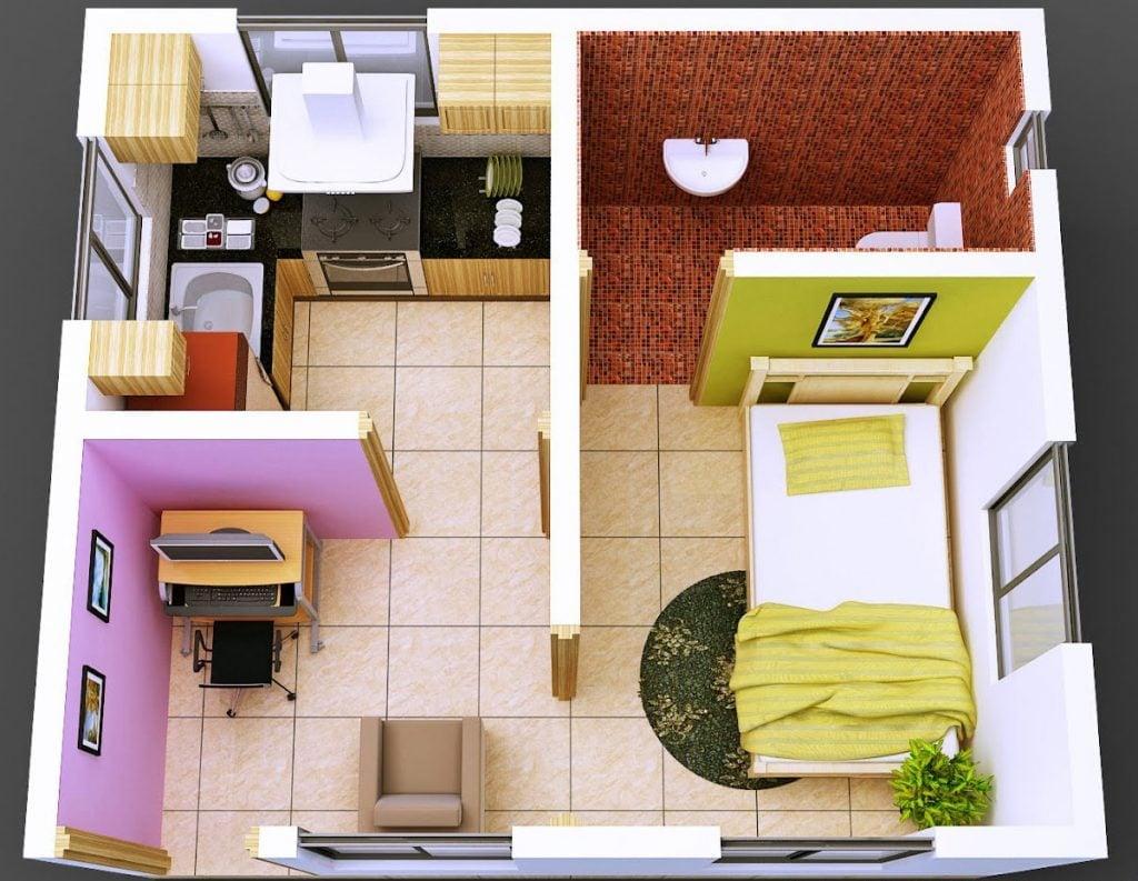 Besar Desain Rumah Sederhana 1 Kamar Tidur 84 Untuk Dekorasi Rumah Untuk Gaya Desain Interior dengan Desain Rumah Sederhana 1 Kamar Tidur