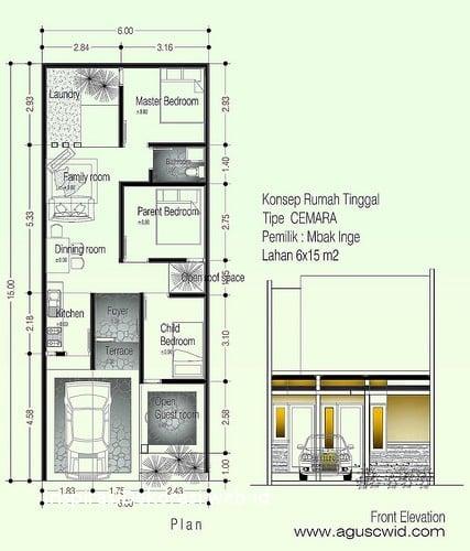 Cantik Desain Rumah Sederhana Panjang 93 Dengan Tambahan Ide Desain Interior Rumah oleh Desain Rumah Sederhana Panjang