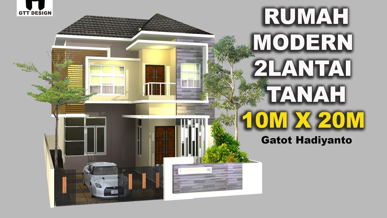 Desain Rumah Modern Ukuran 10x20 Arcadia Desain