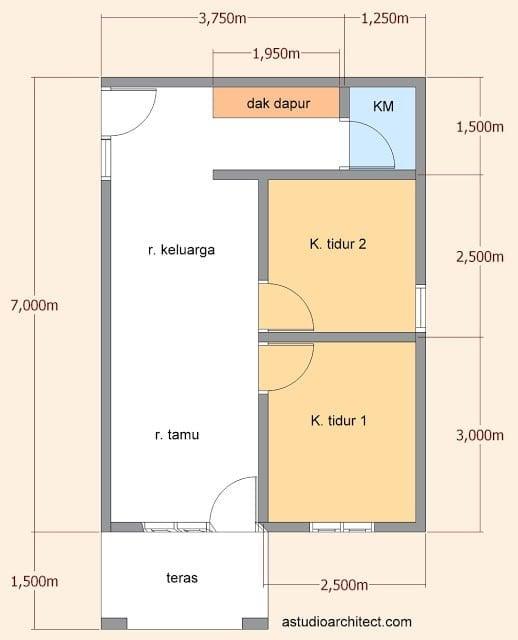 Cemerlang Desain Rumah Sederhana 5x7 86 Untuk Inspirasi Interior Rumah oleh Desain Rumah Sederhana 5x7