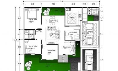 fancy desain rumah mewah type 100 40 dengan tambahan ide