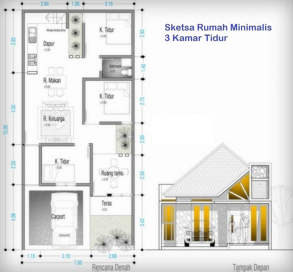 Imut Desain Rumah Sederhana 7x12 3 Kamar 24 Renovasi Ide Desain Interior Untuk Desain Rumah untuk Desain Rumah Sederhana 7x12 3 Kamar