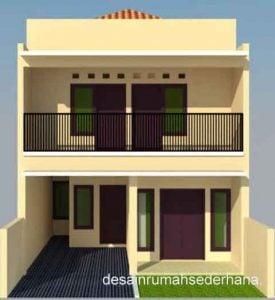 indah desain rumah sederhana 2 lantai ukuran 6x12 45 untuk