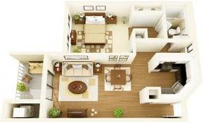 Keren Desain Rumah Sederhana 1 Kamar 19 Di Dekorasi Interior Rumah oleh Desain Rumah Sederhana 1 Kamar