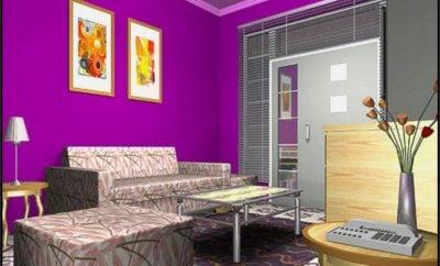 hebat desain rumah minimalis warna ungu 36 dalam desain