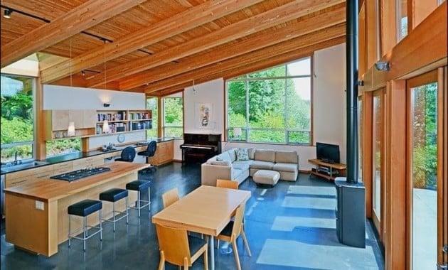 Menakjubkan Desain Interior Rumah Kayu Sederhana 52 Bangun Ide Merombak Rumah Kecil dengan Desain Interior Rumah Kayu Sederhana