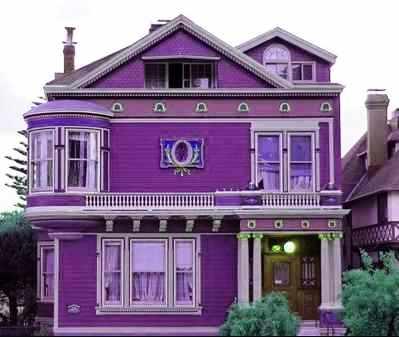 menawan desain rumah modern warna ungu 76 dalam dekorasi