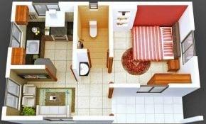 Menawan Desain Rumah Sederhana 1 Kamar Tidur 98 Dalam Rumah Merancang Inspirasi dengan Desain Rumah Sederhana 1 Kamar Tidur