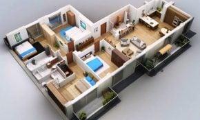 Menawan Desain Rumah Sederhana 4 Kamar Tidur 24 Di Ide Dekorasi Rumah dengan Desain Rumah Sederhana 4 Kamar Tidur