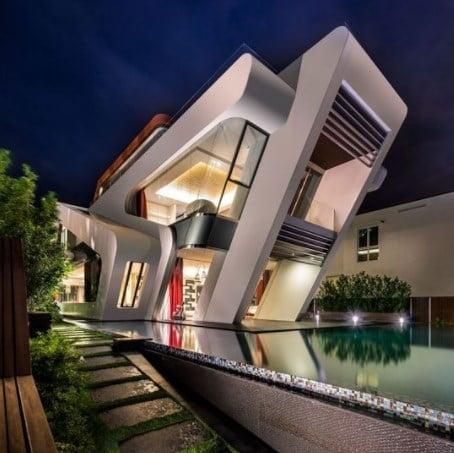 Modern Desain Rumah Mewah Yang Unik 14 Tentang Ide Merombak Rumah Dengan Desain Rumah Mewah Yang Unik Arcadia Design Architect