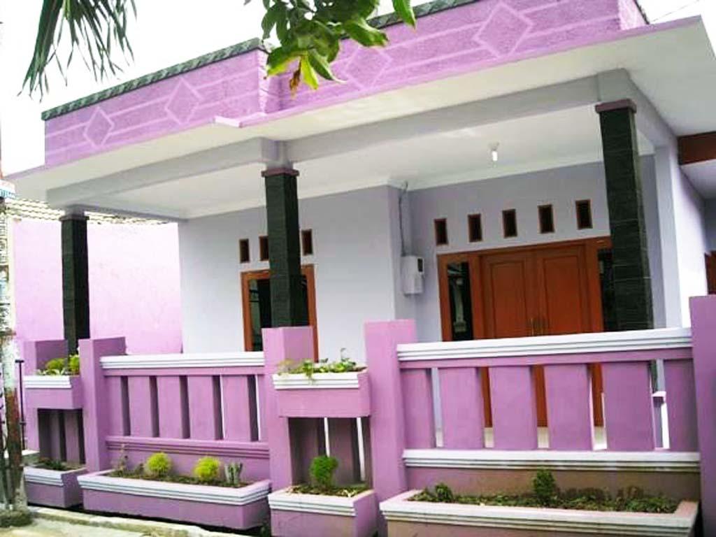 Modern Desain Rumah Sederhana Warna Pink 92 Ide Merombak ...