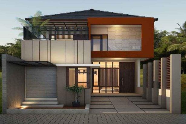 Mudah Desain Rumah Minimalis Modern 6 X 15 17 Desain Rumah ...