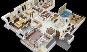 Teratas Desain Rumah Sederhana 4 Kamar Tidur 20 Dengan Tambahan Ide Pengaturan Dekorasi Rumah untuk Desain Rumah Sederhana 4 Kamar Tidur
