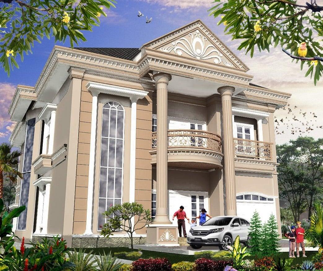 22 Trendy Model Desain Rumah Klasik Mewah Minimalis Yang Menawan Terbaru dan Terlengkap