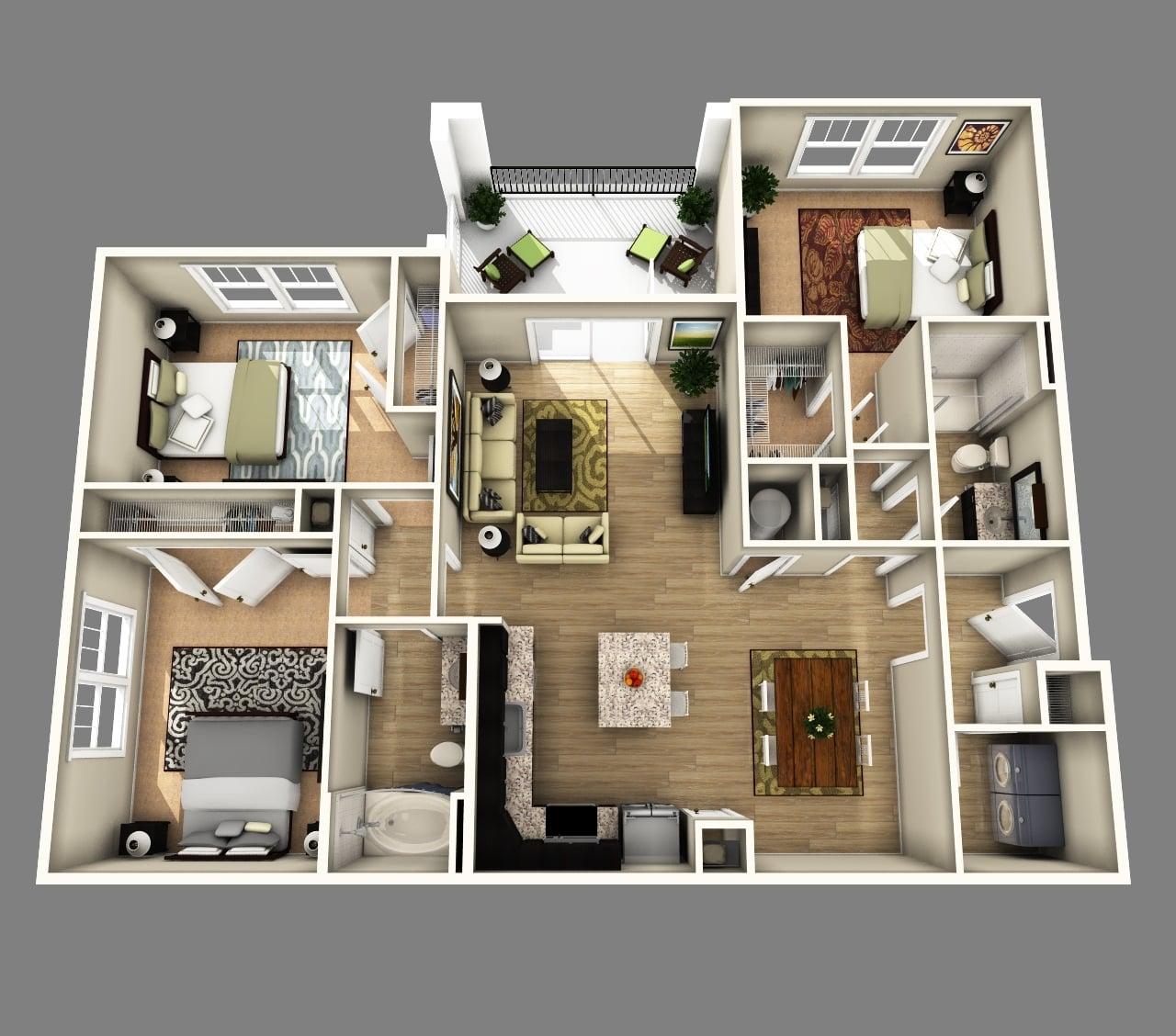 34 Terindah Denah Rumah Modern Terbaru 2020