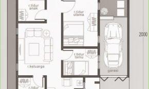 42 Kumpulan Denah Rumah Minimalis 4 Kamar Tidur Terbaru 2020