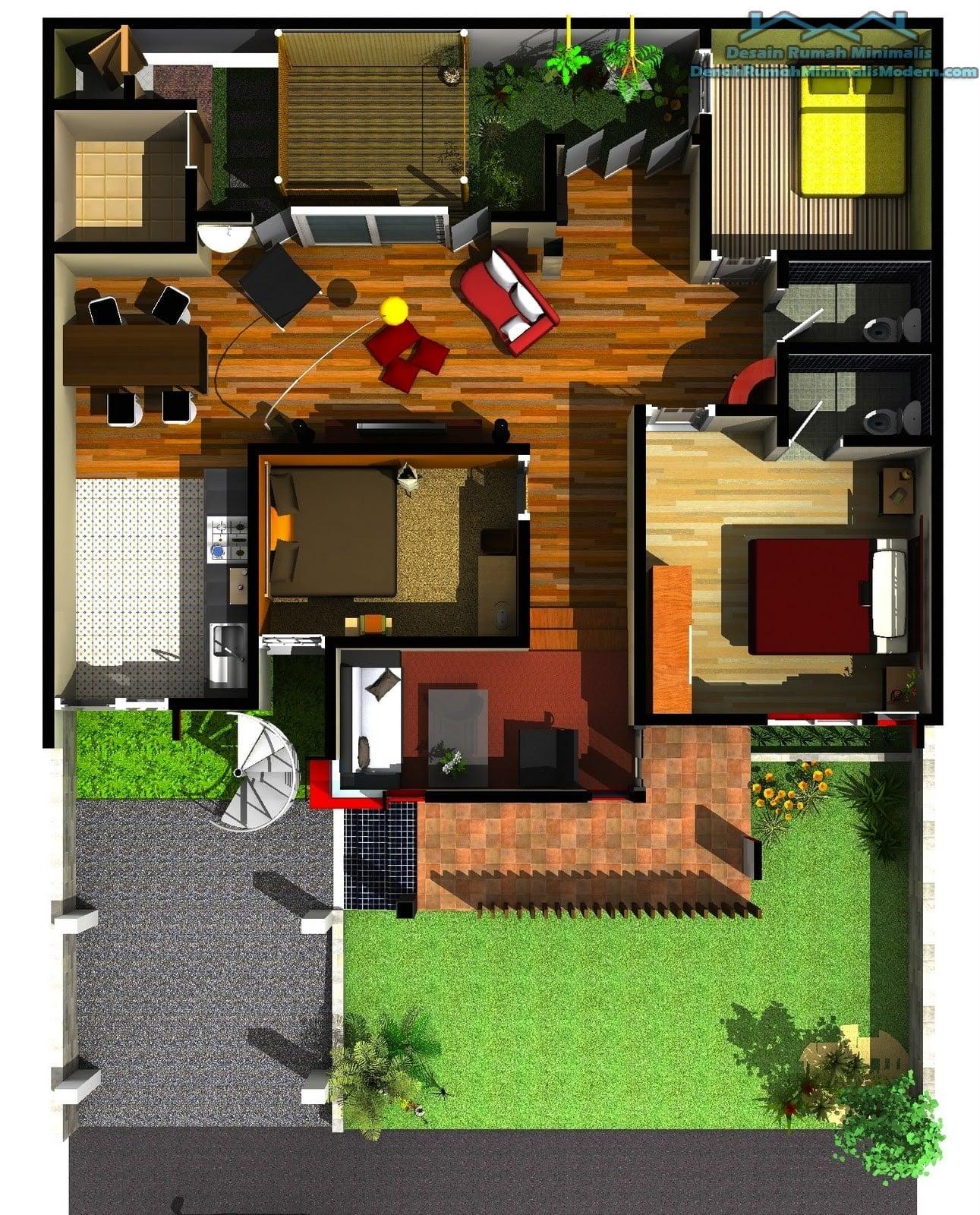 55 Terbaik Denah Rumah Minimalis 1 Lantai Terbaru dan Terlengkap