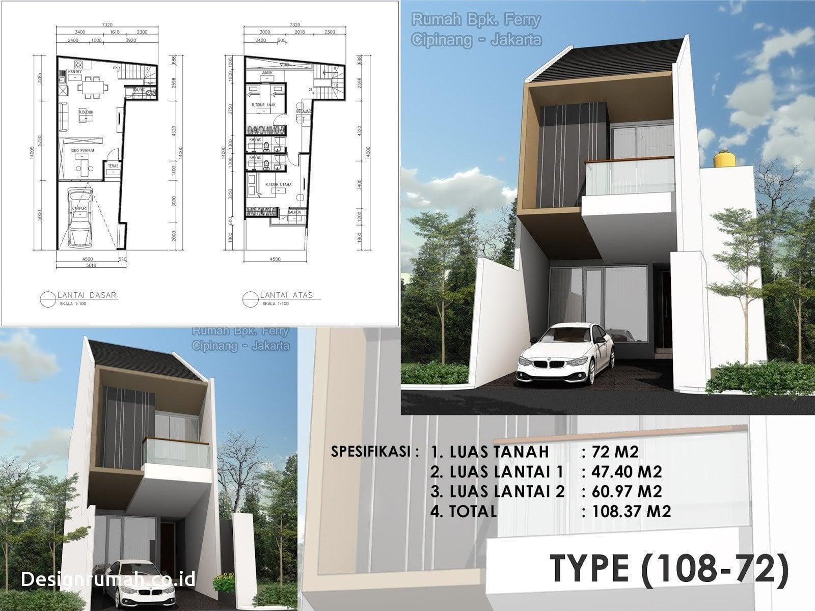 56 Ragam Seni Rumah Minimalis 3 Lantai Lebar 6 Meter Trend Masa Kini