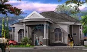 56 Trendy Desain Rumah Klasik Modern 1 Lantai Trend Masa Kini