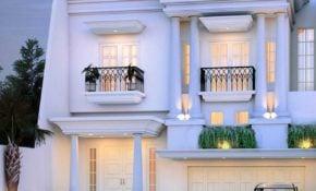 62 Ragam Seni Desain Rumah Klasik Modern 1 Lantai Trend Masa Kini