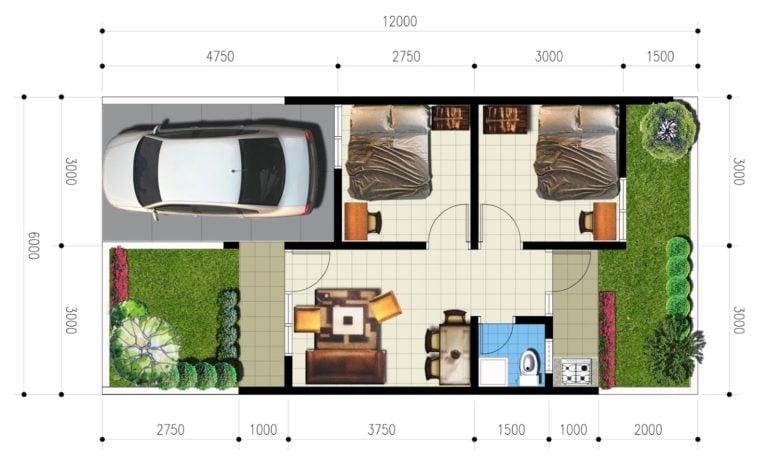 97 Populer Desain Rumah Minimalis Type 36 Luas Tanah 90 ...