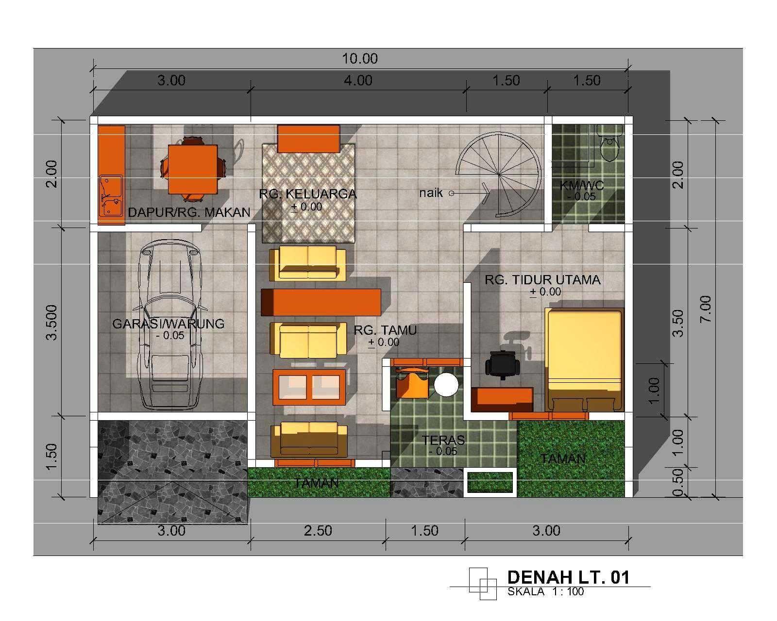 74 Ragam Seni Denah Rumah Minimalis 1 Lantai Yang Belum Banyak Diketahui