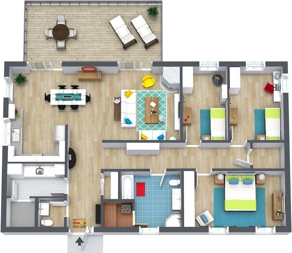 74 Terbaik Denah Rumah Modern Istimewa Banget