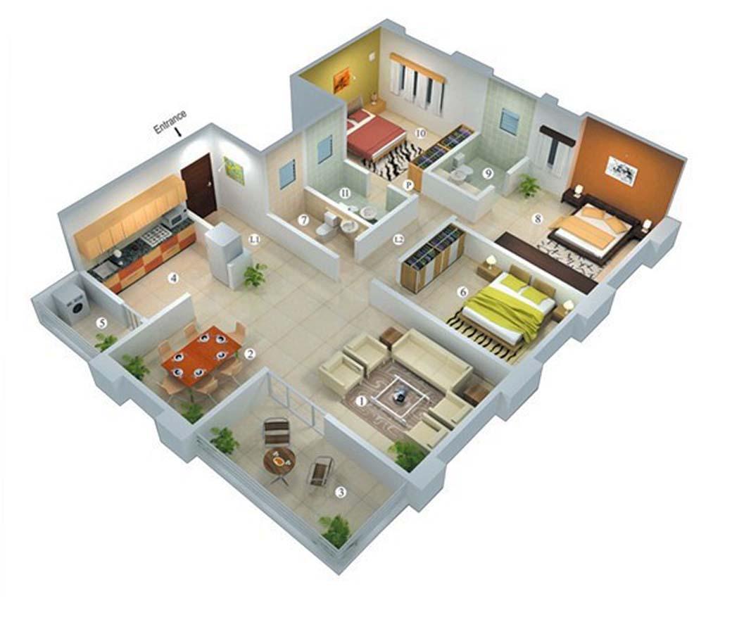 77 Gambar Desain Rumah Minimalis 3 Kamar 1 Mushola Istimewa Banget
