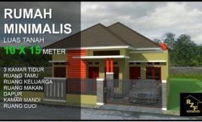 70 Gambar Inspirasi Model Rumah Minimalis Ukuran 15Meter Paling Terkenal