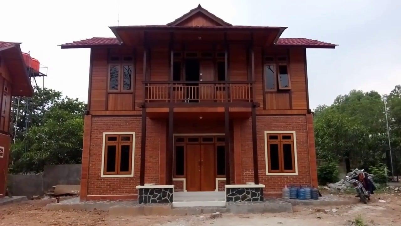 70 Kumpulan Desain Rumah Kayu 2 Lantai Kreatif Deh