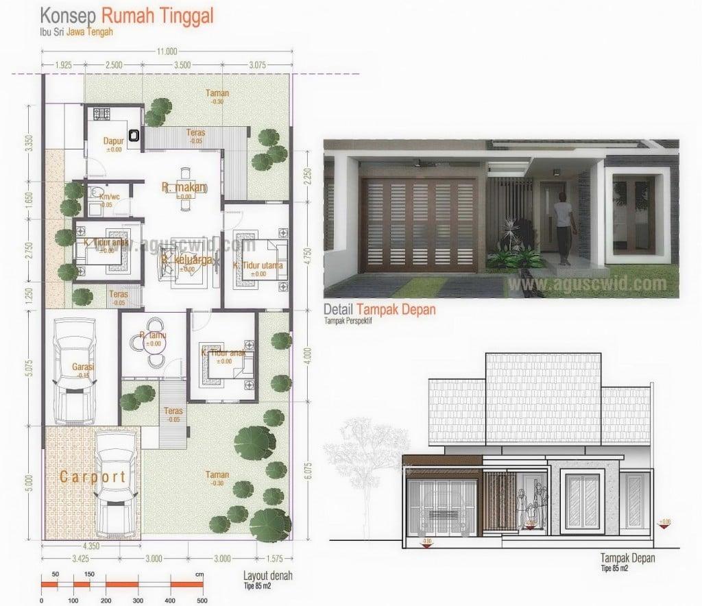 65 New Desain Teras Untuk Rumah Memanjang Ke Belakang Istimewa Banget
