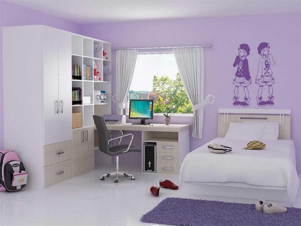 85 Inspirasi Desain Kamar Tidur Anak Perempuan Warna Ungu ...