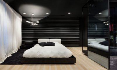 56 ide cantik desain interior kamar tidur hitam putih