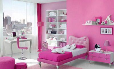 23 inspirasi dekorasi kamar tidur sempit warna pink yang